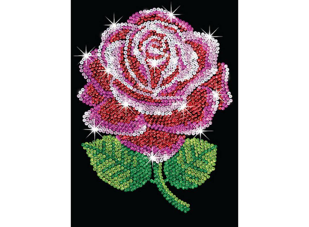 Мозаика из пайеток «Роза»