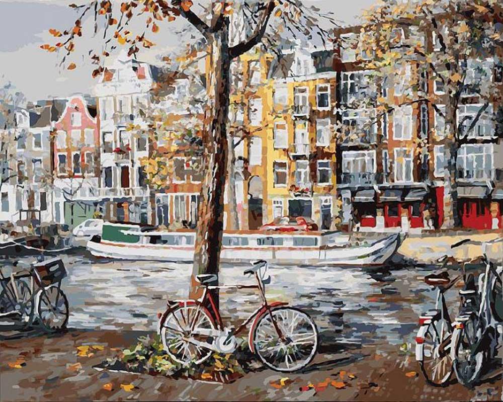 «Осенний Амстердам»Картины по номерам Белоснежка<br><br><br>Артикул: 118-AB<br>Основа: Холст<br>Сложность: очень сложные<br>Размер: 40x50<br>Количество цветов: 38<br>Техника рисования: Без смешивания красок