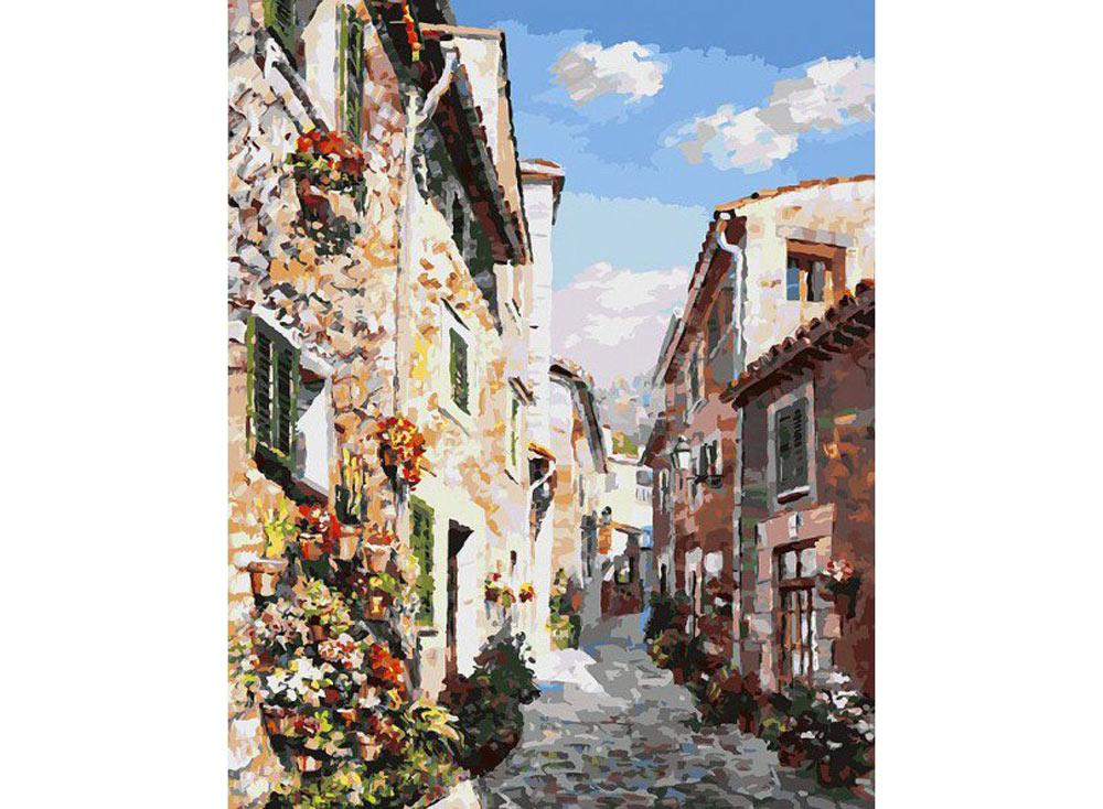 «Майорка»Картины по номерам Белоснежка<br><br><br>Артикул: 123-AB<br>Основа: Холст<br>Сложность: очень сложные<br>Размер: 40x50<br>Количество цветов: 35<br>Техника рисования: Без смешивания красок