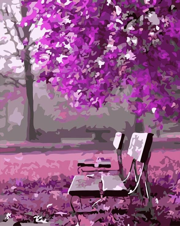 Картина по номерам «Сиреневый вечер»Картины по номерам Белоснежка<br><br><br>Артикул: 531-CG<br>Основа: Холст<br>Сложность: средние<br>Размер: 40x50 см<br>Количество цветов: 21<br>Техника рисования: Без смешивания красок