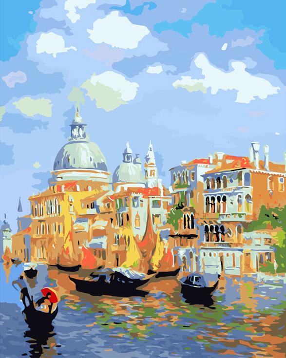 Картина по номерам «Солнечная Венеция»Картины по номерам Белоснежка<br><br><br>Артикул: 536-CG<br>Основа: Холст<br>Сложность: сложные<br>Размер: 40x50 см<br>Количество цветов: 28<br>Техника рисования: Без смешивания красок