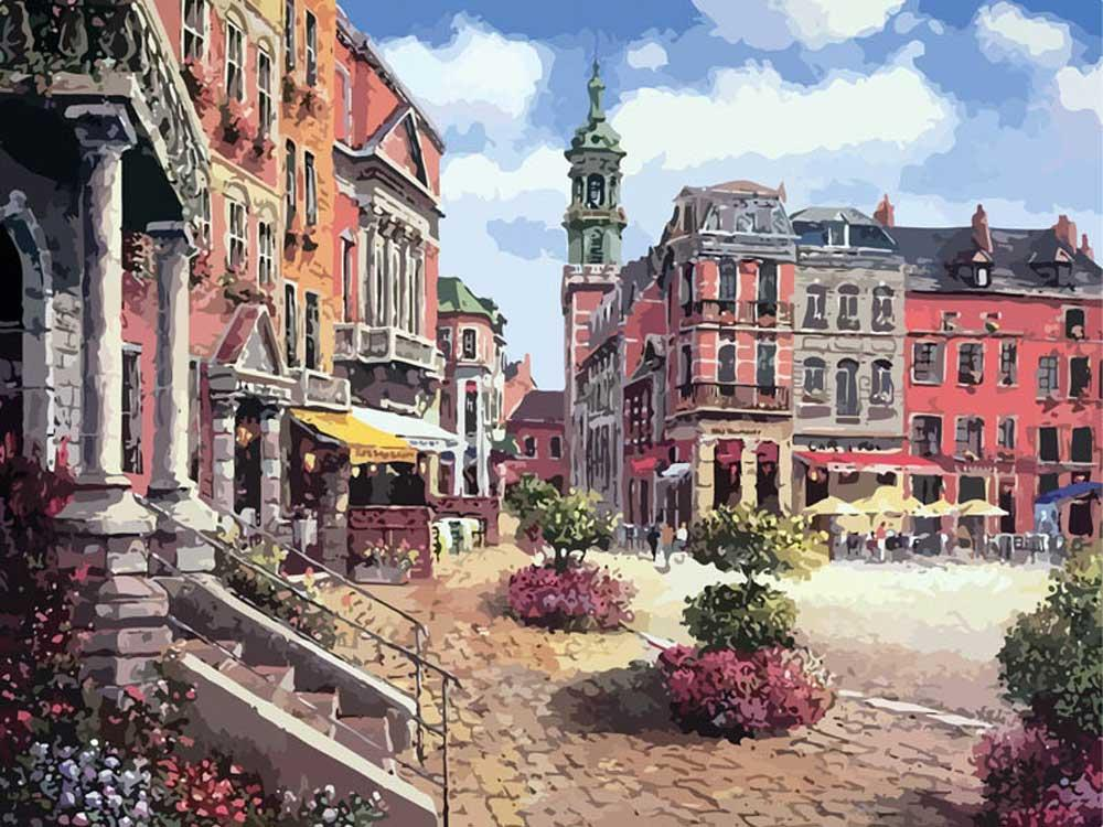 Картина по номерам «Шарлеруа. Бельгия»Картины по номерам Белоснежка<br><br><br>Артикул: 629-AB<br>Основа: Холст<br>Сложность: очень сложные<br>Размер: 40x50 см<br>Количество цветов: 34<br>Техника рисования: Без смешивания красок