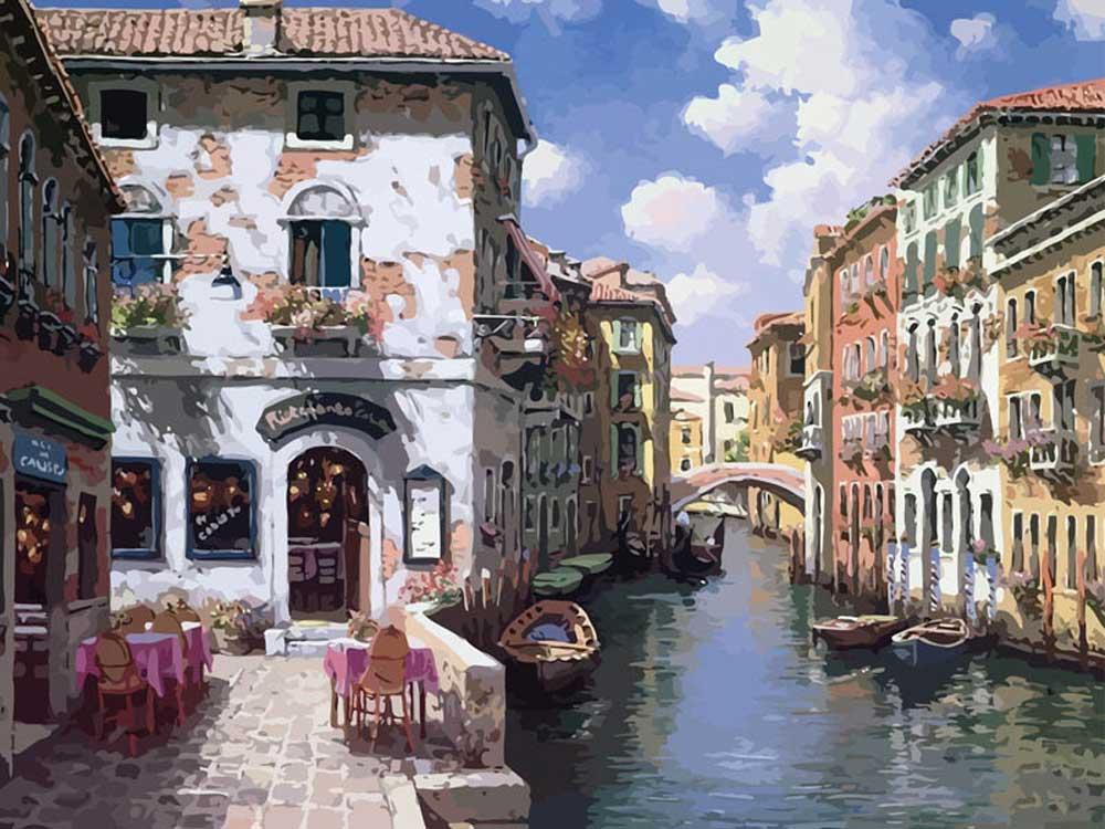 «Венецианские цвета» Сунг Сэм ПаркаКартины по номерам Белоснежка<br><br><br>Артикул: 631-AB<br>Основа: Холст<br>Сложность: средние<br>Размер: 40x50<br>Количество цветов: 39<br>Техника рисования: Без смешивания красок