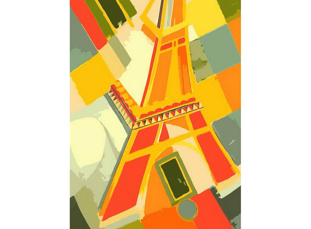 «Взгляд на Эйфелеву башню»Картины по номерам Белоснежка<br><br><br>Артикул: 707-AS<br>Основа: Холст<br>Сложность: средние<br>Размер: 30x40<br>Количество цветов: 18<br>Техника рисования: Без смешивания красок