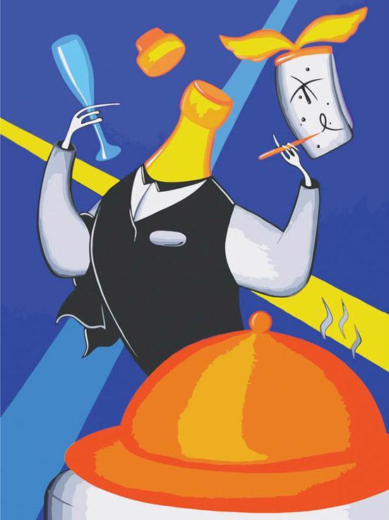 Картина по номерам «Официант» Романа ИсаеваКартины по номерам Белоснежка<br><br><br>Артикул: 717-AS<br>Основа: Холст<br>Сложность: средние<br>Размер: 30x40 см<br>Количество цветов: 24<br>Техника рисования: Без смешивания красок