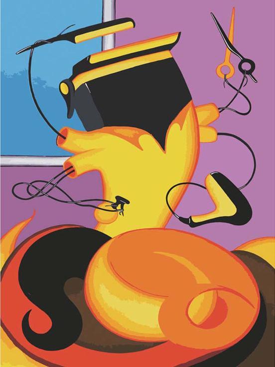 Картина по номерам «Парикмахер» Романа ИсаеваКартины по номерам Белоснежка<br><br><br>Артикул: 732-as<br>Основа: Холст<br>Сложность: легкие<br>Размер: 30x40 см<br>Количество цветов: 20<br>Техника рисования: Без смешивания красок