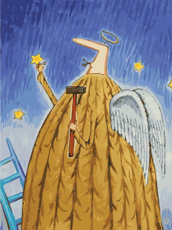 Картина по номерам «Заботливый ангел» Романа УрбинскогоКартины по номерам Белоснежка<br><br><br>Артикул: 776-AS<br>Основа: Холст<br>Сложность: очень сложные<br>Размер: 30x40 см<br>Количество цветов: 33<br>Техника рисования: Без смешивания красок