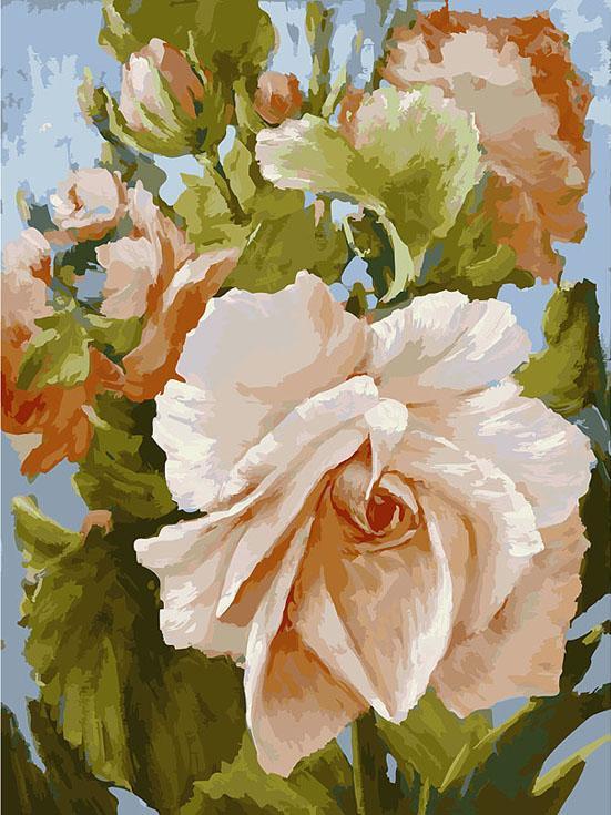 Картина по номерам «Роза» Антона ГорцевичаКартины по номерам Белоснежка<br><br><br>Артикул: 781-AS<br>Основа: Холст<br>Сложность: очень сложные<br>Размер: 30x40 см<br>Количество цветов: 35<br>Техника рисования: Без смешивания красок