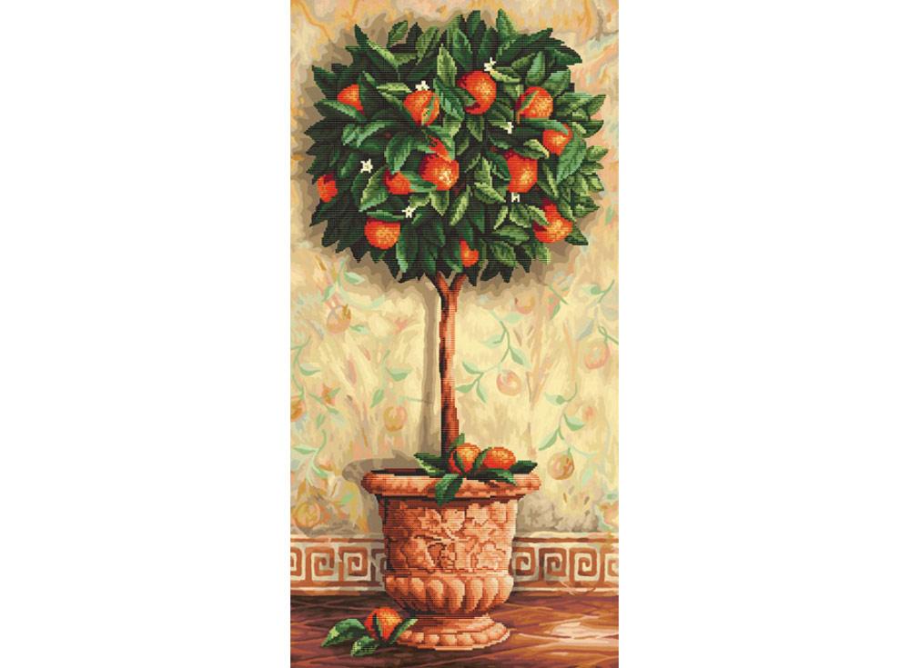 Алмазная вышивка «Апельсиновое дерево»Алмазная вышивка Color Kit (Колор Кит)<br><br><br>Артикул: 80002<br>Основа: Холст без подрамника<br>Сложность: сложные<br>Размер: 40x80 см<br>Выкладка: Частичная<br>Количество цветов: 15-25<br>Тип страз: Круглые непрозрачные (акриловые)