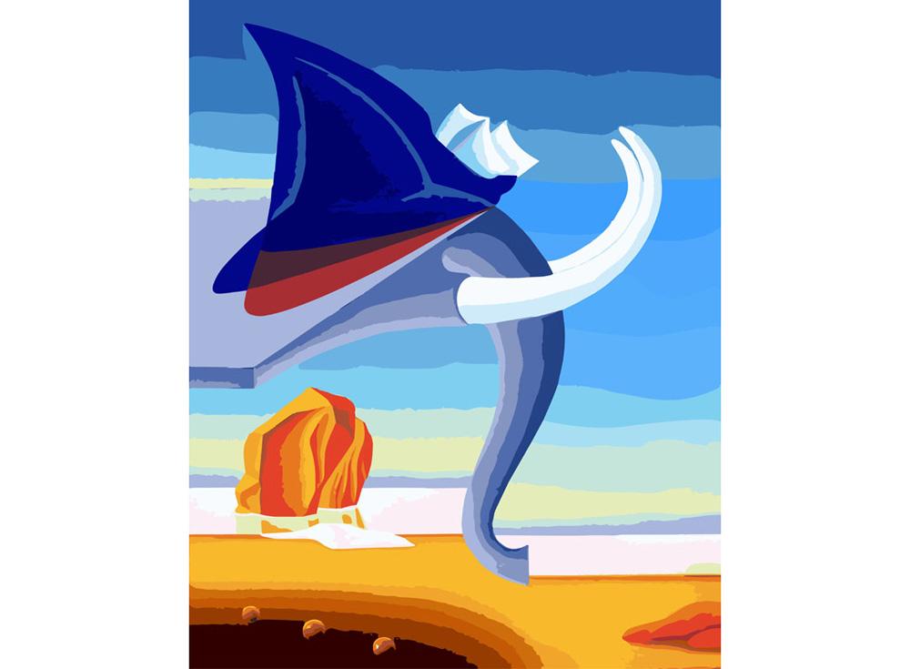 «Боевой слон»Картины по номерам Белоснежка<br><br><br>Артикул: 829-AB<br>Основа: Холст<br>Сложность: средние<br>Размер: 30x40<br>Количество цветов: 35<br>Техника рисования: Без смешивания красок