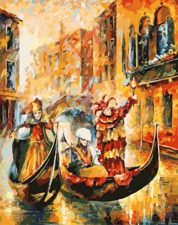 Картина по номерам «Венецианская гондола» Леонида АфремоваКартины по номерам Белоснежка<br><br><br>Артикул: 2010-am<br>Основа: Холст<br>Сложность: очень сложные<br>Размер: 60x80 см<br>Количество цветов: 45<br>Техника рисования: Без смешивания красок