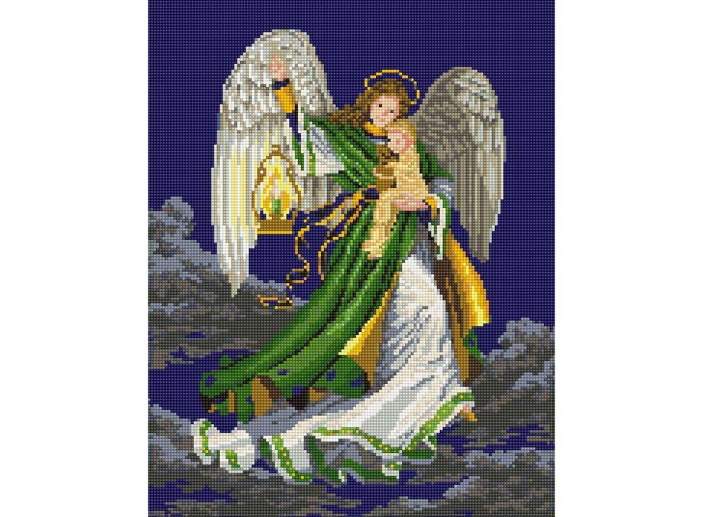 Алмазная вышивка Цветной Стразы «Ангел снов» A051
