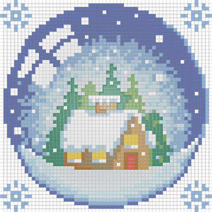 Стразы «Новогодний шарик с домиком»Алмазная Живопись<br>Картины стразами бренда «Алмазная Живопись» это:<br><br>четко пропечатанная символьная схема;<br>качественный клеевой слой по всей поверхности холста;<br>большая палитра акриловых страз с 9 гранями, которые, отражая свет, создают эффект объемного изображения.<br>...<br><br>Артикул: АЖ-1254<br>Основа: Холст без подрамника<br>Сложность: средние<br>Размер: 15x15 см<br>Выкладка: Полная<br>Количество цветов: 13<br>Тип страз: Квадратные