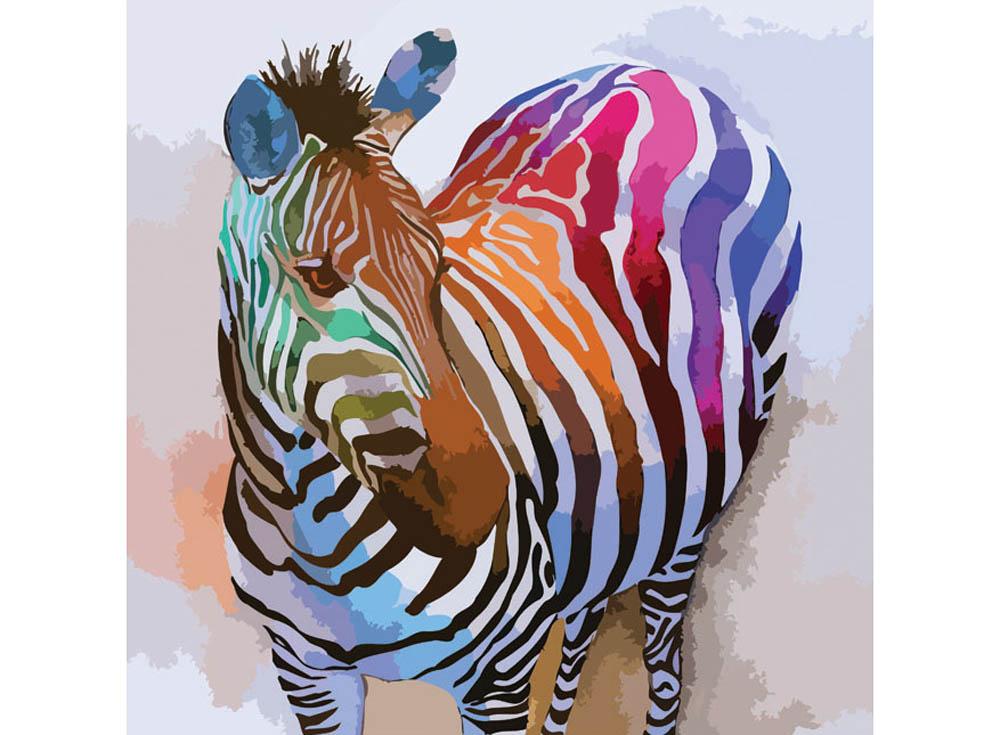 «Радужное настроение»Раскраски по номерам Color Kit<br><br><br>Артикул: CF020<br>Основа: Холст<br>Сложность: средние<br>Размер: 40x40 см<br>Количество цветов: 24<br>Техника рисования: Без смешивания красок