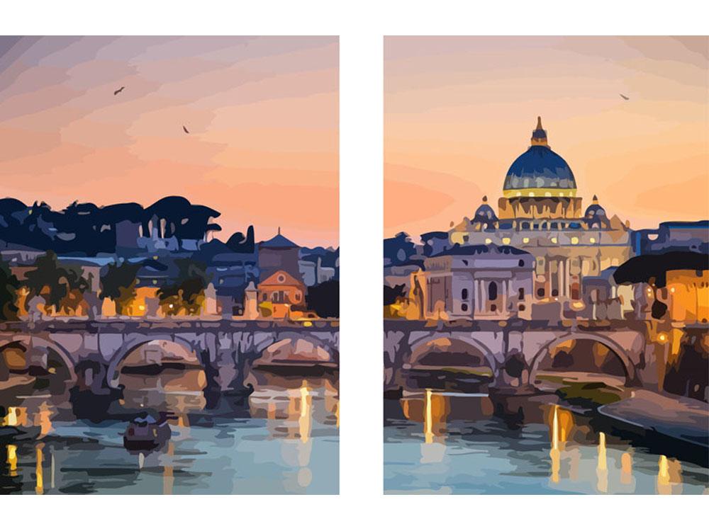 «Рим»Раскраски по номерам Color Kit<br><br><br>Артикул: CU2004<br>Основа: Холст<br>Сложность: сложные<br>Размер: 50x80 см<br>Количество цветов: 25<br>Техника рисования: Без смешивания красок