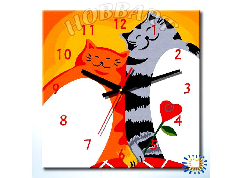 Раскраска-часы «Толстячки»Часы-раскраски по номерам<br><br><br>Артикул: DZ4040004<br>Основа: Холст<br>Размер: 40x40 см