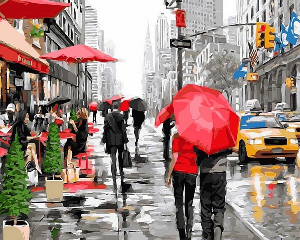 «Нью-Йорк» Ричарда МакнейлаPaintboy (Premium)<br><br><br>Артикул: Gx8091<br>Основа: Холст<br>Сложность: сложные<br>Размер: 40x50 см<br>Количество цветов: 29<br>Техника рисования: Без смешивания красок