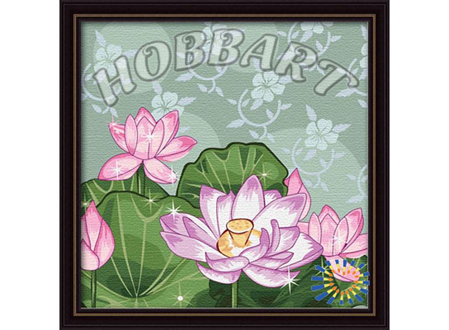 «Жемчужный лотос»Hobbart<br><br><br>Артикул: HB3030026<br>Основа: Холст<br>Сложность: средние<br>Размер: 30x30 см<br>Количество цветов: 21<br>Техника рисования: Без смешивания красок