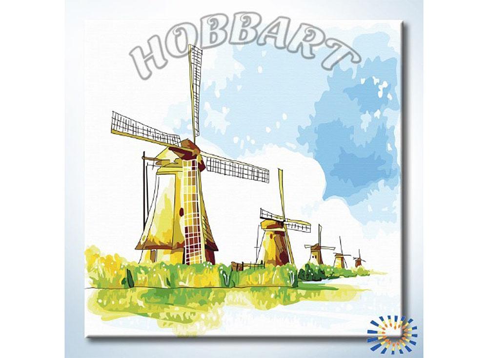 Картина по номерам «Ветряная гвардия»Hobbart<br><br><br>Артикул: HB3030045<br>Основа: Холст<br>Сложность: средние<br>Размер: 30x30 см<br>Количество цветов: 21<br>Техника рисования: Без смешивания красок