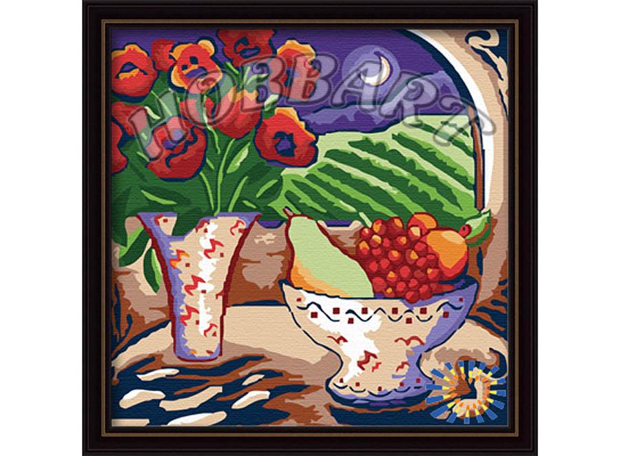 «Маково-фруктовый натюрморт»Hobbart<br><br><br>Артикул: HB3030050<br>Основа: Холст<br>Сложность: легкие<br>Размер: 30x30 см<br>Количество цветов: 18<br>Техника рисования: Без смешивания красок