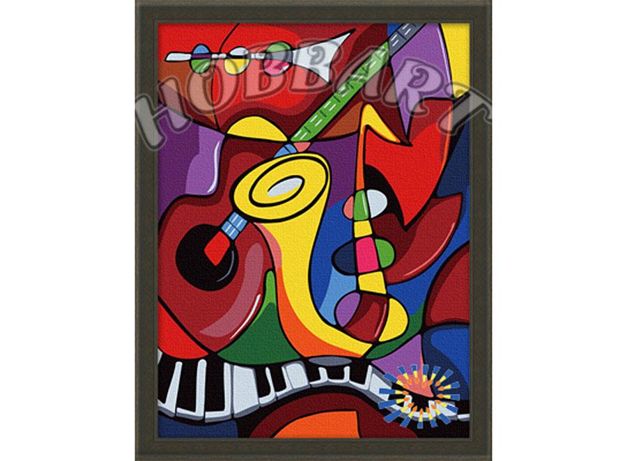 «Музыка»Hobbart<br><br><br>Артикул: HB3040006<br>Основа: Холст<br>Сложность: легкие<br>Размер: 30x40<br>Количество цветов: 19<br>Техника рисования: Без смешивания красок