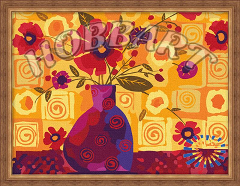 Картина по номерам «Абстракция вазы с цветами»Hobbart<br><br><br>Артикул: HB3040008<br>Основа: Холст<br>Сложность: средние<br>Размер: 30x40 см<br>Количество цветов: 20<br>Техника рисования: Без смешивания красок