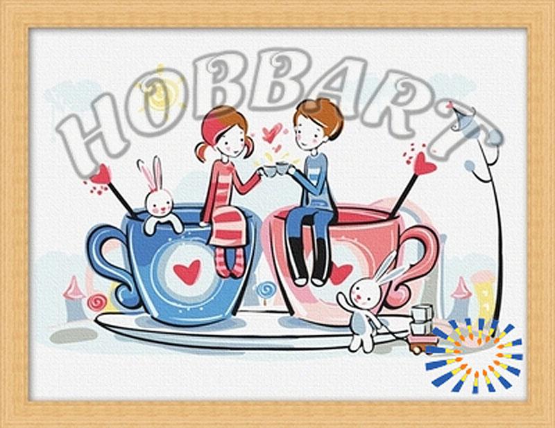 Картина по номерам «Чашечки любви»Hobbart<br><br><br>Артикул: HB3040014<br>Основа: Холст<br>Сложность: средние<br>Размер: 30x40 см<br>Количество цветов: 15<br>Техника рисования: Без смешивания красок