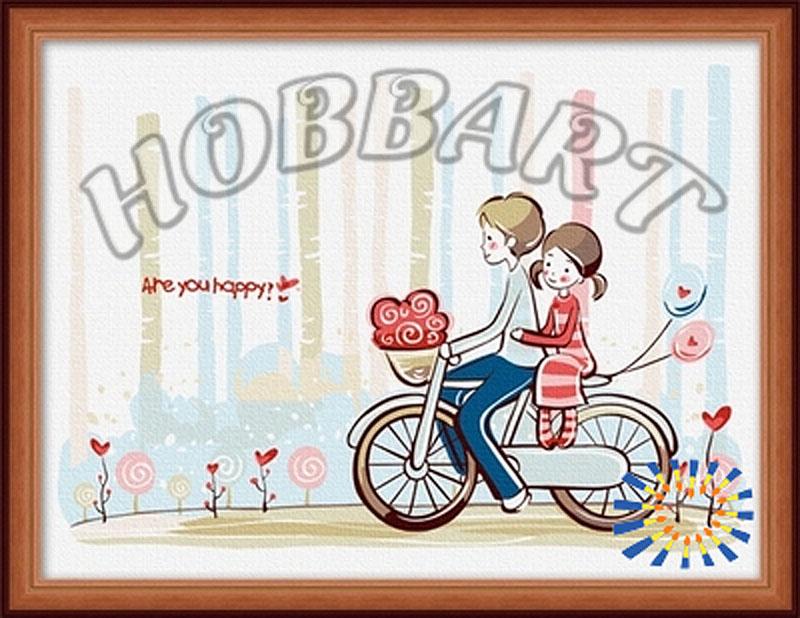 «По дороге домой»Hobbart<br><br><br>Артикул: hb3040021<br>Основа: Холст<br>Сложность: средние<br>Размер: 30x40 см<br>Количество цветов: 14<br>Техника рисования: Без смешивания красок