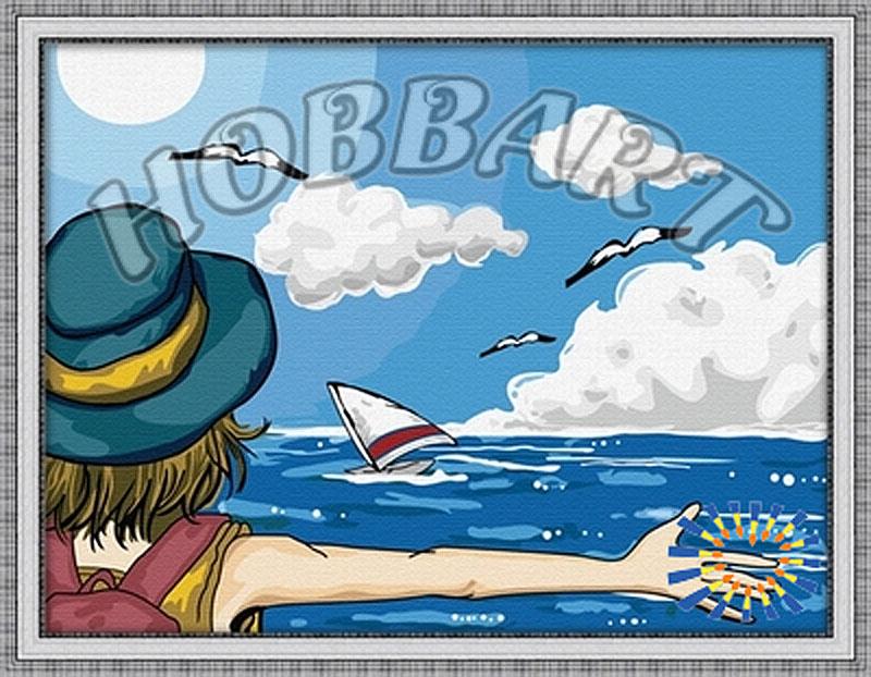 «Море»Hobbart<br><br><br>Артикул: HB3040024<br>Основа: Холст<br>Сложность: сложные<br>Размер: 30x40 см<br>Количество цветов: 25<br>Техника рисования: Без смешивания красок