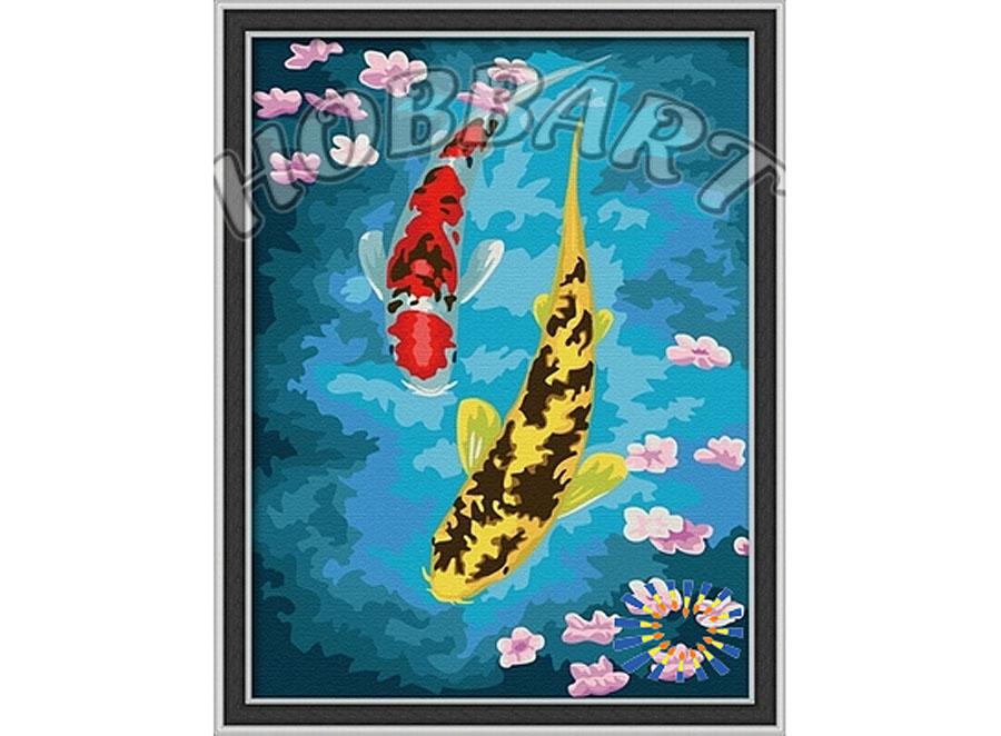 «Карпы в пруду»Hobbart<br><br><br>Артикул: HB3040030<br>Основа: Холст<br>Сложность: сложные<br>Размер: 30x40 см<br>Количество цветов: 25<br>Техника рисования: Без смешивания красок
