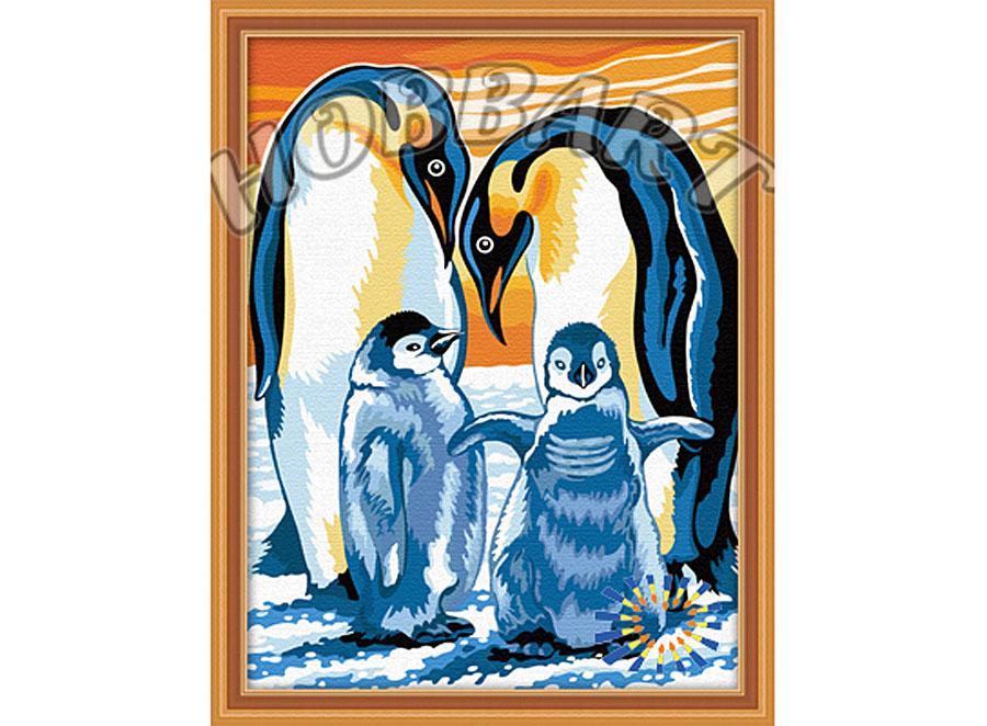 «Пингвины»Hobbart<br><br><br>Артикул: HB3040032<br>Основа: Холст<br>Сложность: средние<br>Размер: 30x40 см<br>Количество цветов: 21<br>Техника рисования: Без смешивания красок