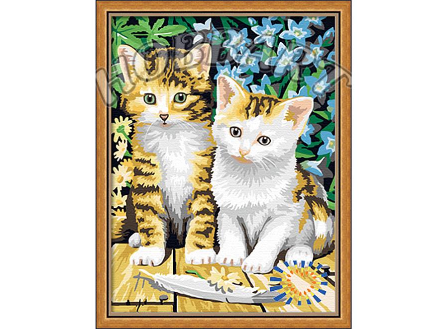 «Чудесные котята»Hobbart<br><br><br>Артикул: HB3040033<br>Основа: Холст<br>Сложность: средние<br>Размер: 30x40<br>Количество цветов: 23<br>Техника рисования: Без смешивания красок