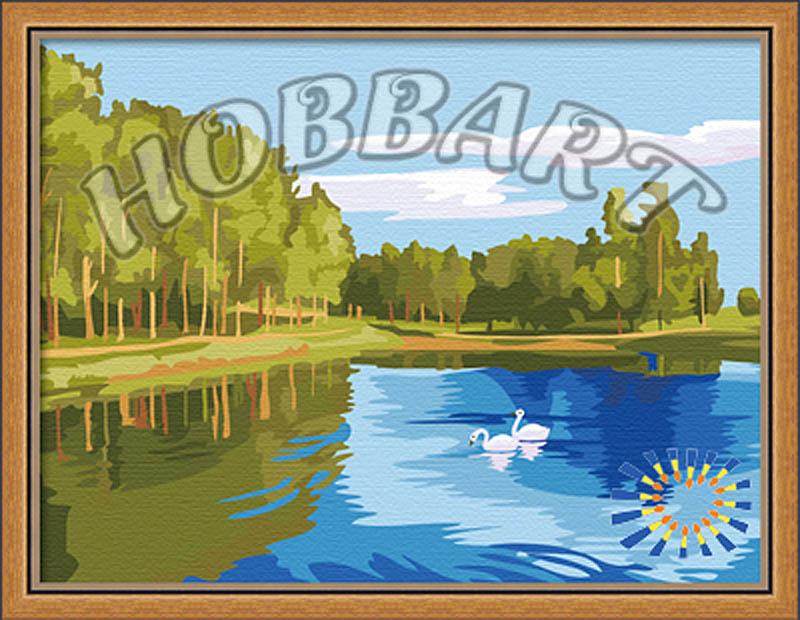 «Зеркальная гладь»Hobbart<br><br><br>Артикул: HB3040035<br>Основа: Холст<br>Сложность: средние<br>Размер: 30x40<br>Количество цветов: 20<br>Техника рисования: Без смешивания красок