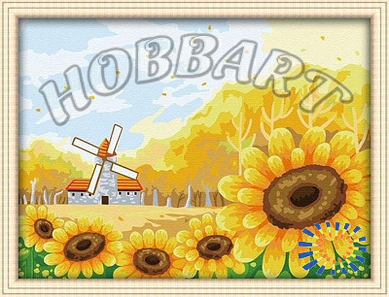 «Подсолнуховое поле»Hobbart<br><br><br>Артикул: HB3040050<br>Основа: Холст<br>Сложность: сложные<br>Размер: 30x40<br>Количество цветов: 25<br>Техника рисования: Без смешивания красок