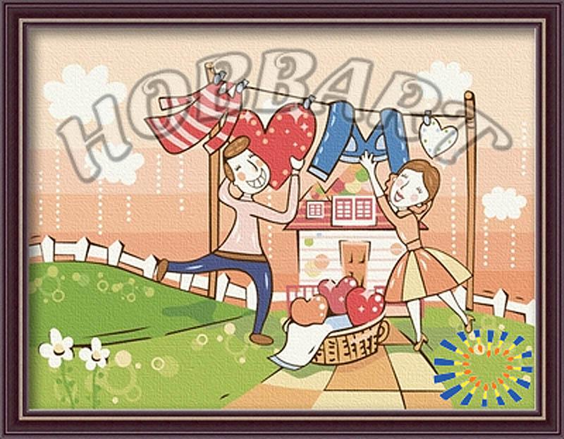 Картина по номерам «С любовью по жизни»Hobbart<br><br><br>Артикул: HB3040062<br>Основа: Холст<br>Сложность: сложные<br>Размер: 30x40 см<br>Количество цветов: 25<br>Техника рисования: Без смешивания красок
