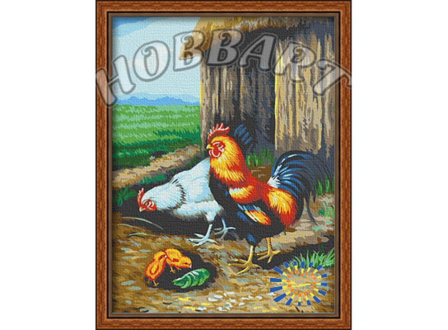 «Во дворе»Hobbart<br><br><br>Артикул: HB3040063<br>Основа: Холст<br>Сложность: сложные<br>Размер: 30x40 см<br>Количество цветов: 24<br>Техника рисования: Без смешивания красок