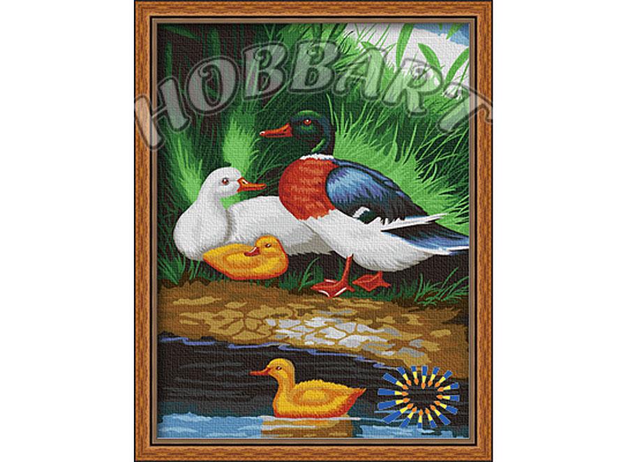 «Утиная идиллия»Hobbart<br><br><br>Артикул: HB3040064<br>Основа: Холст<br>Сложность: сложные<br>Размер: 30x40 см<br>Количество цветов: 25<br>Техника рисования: Без смешивания красок