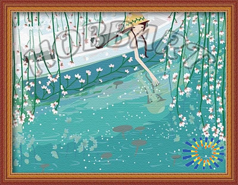 Картина по номерам «В отражении воды»Hobbart<br><br><br>Артикул: HB3040083<br>Основа: Холст<br>Сложность: сложные<br>Размер: 30x40 см<br>Количество цветов: 25<br>Техника рисования: Без смешивания красок