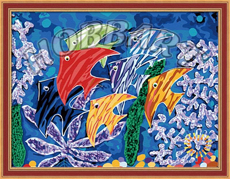 «Краски моря»Hobbart<br><br><br>Артикул: HB3040100<br>Основа: Холст<br>Сложность: средние<br>Размер: 30x40<br>Количество цветов: 21<br>Техника рисования: Без смешивания красок