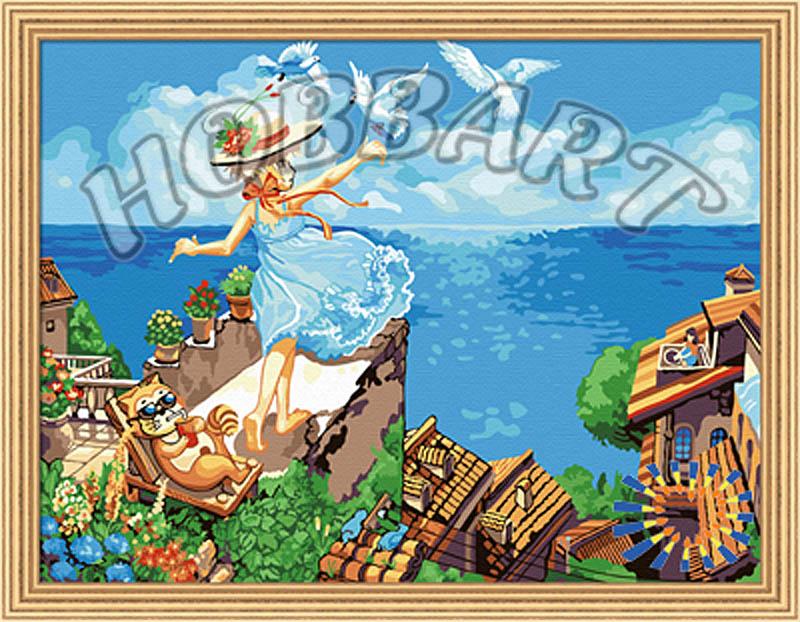 Картина по номерам «Летите, голуби, летите»Hobbart<br><br><br>Артикул: HB3040116<br>Основа: Холст<br>Сложность: сложные<br>Размер: 30x40 см<br>Количество цветов: 25<br>Техника рисования: Без смешивания красок