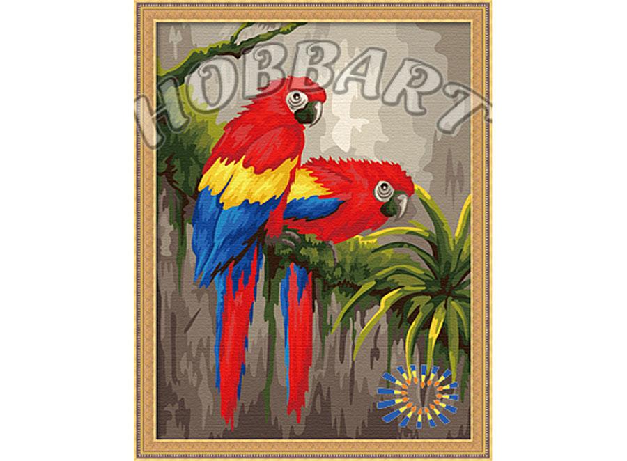 Картина по номерам «Яркая пара»Hobbart<br><br><br>Артикул: HB3040119<br>Основа: Холст<br>Сложность: средние<br>Размер: 30x40 см<br>Количество цветов: 25<br>Техника рисования: Без смешивания красок