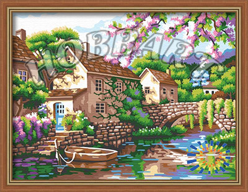 «Деревенька у канала» Сен КимаHobbart<br><br><br>Артикул: HB3040152<br>Основа: Холст<br>Сложность: средние<br>Размер: 30x40 см<br>Количество цветов: 20<br>Техника рисования: Без смешивания красок