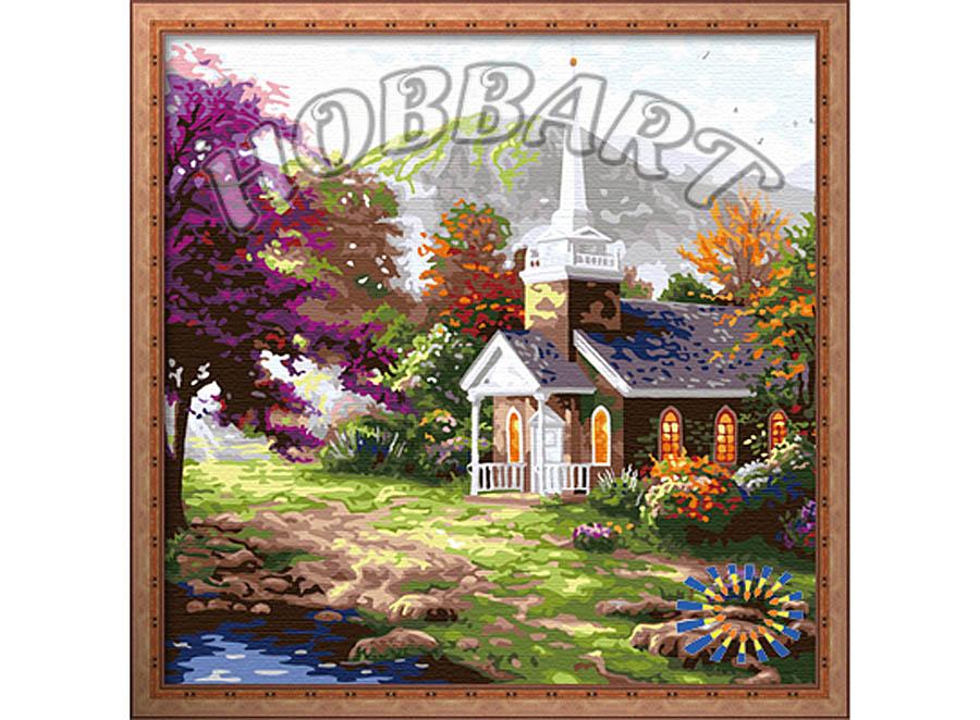 Картина по номерам «У подножья горы»Hobbart<br><br><br>Артикул: HB4040010<br>Основа: Холст<br>Сложность: сложные<br>Размер: 40x40 см<br>Количество цветов: 27<br>Техника рисования: Без смешивания красок