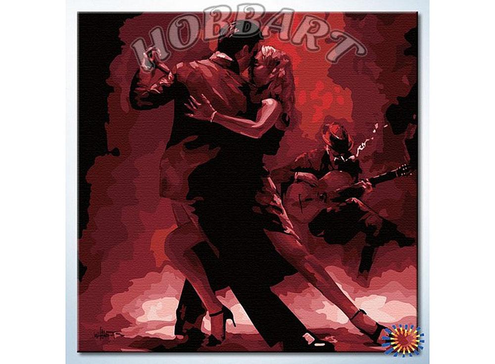 Картина по номерам «Язык танца»Hobbart<br><br><br>Артикул: HB4040049<br>Основа: Холст<br>Сложность: средние<br>Размер: 40x40 см<br>Количество цветов: 14<br>Техника рисования: Без смешивания красок