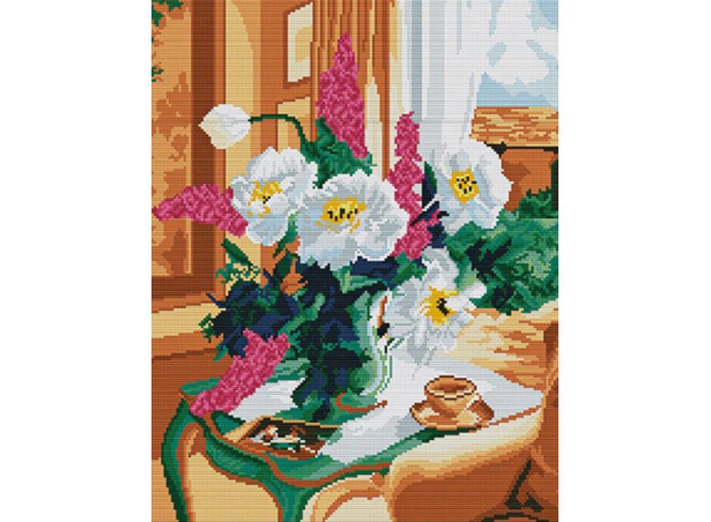 Стразы «Нежный букет»Алмазная вышивка Color Kit (Колор Кит)<br><br><br>Артикул: MO022<br>Основа: Холст без подрамника<br>Сложность: сложные<br>Размер: 40x50 см<br>Выкладка: Полная<br>Количество цветов: 26<br>Тип страз: Квадратные