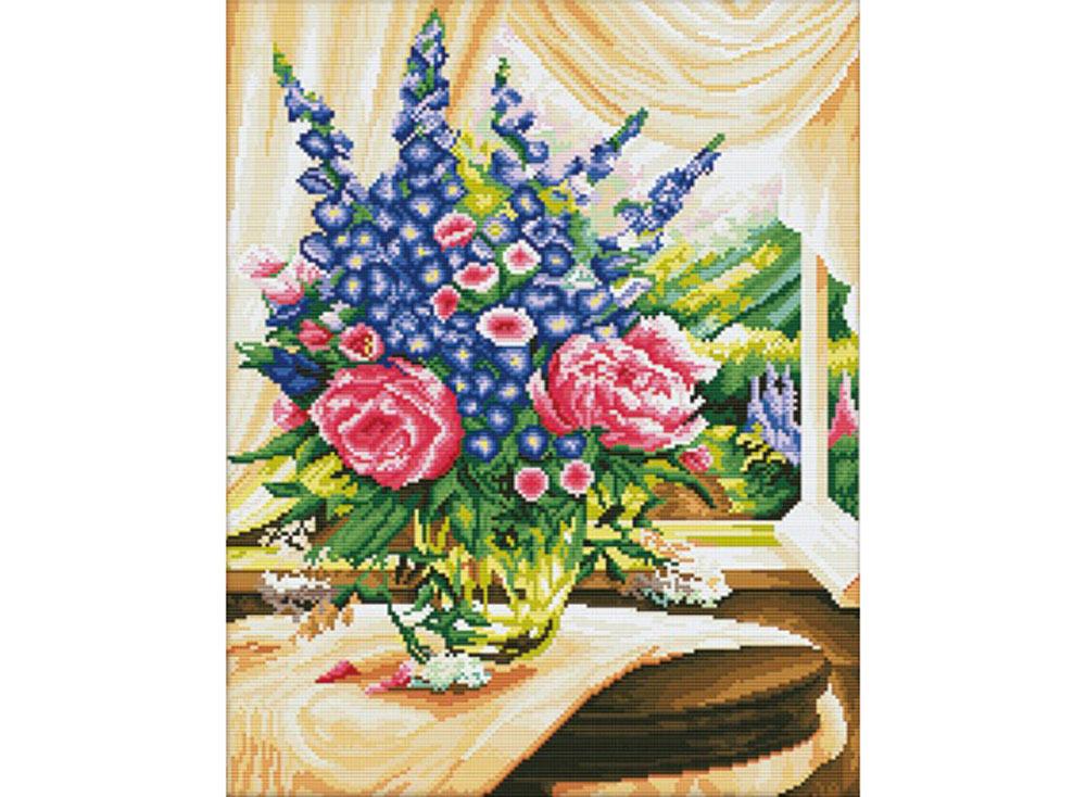 Стразы «Цветы на столе» Игоря ЛевашоваАлмазная вышивка Color Kit (Колор Кит)<br><br><br>Артикул: MO033<br>Основа: Холст без подрамника<br>Сложность: сложные<br>Размер: 40x50 см<br>Выкладка: Полная<br>Количество цветов: 31<br>Тип страз: Квадратные