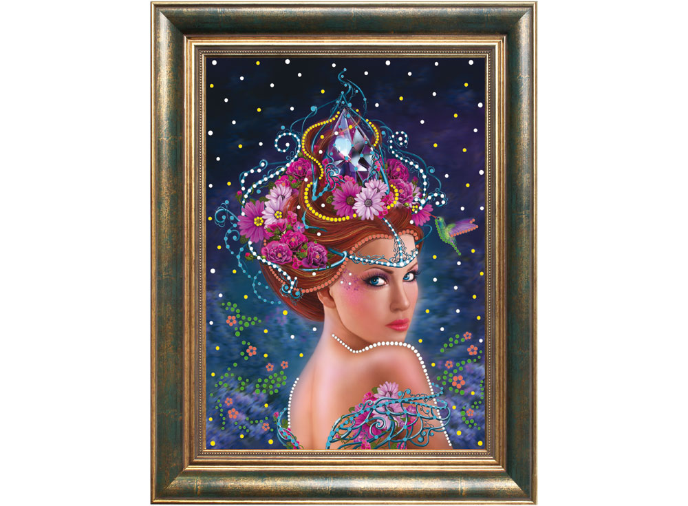 Алмазная вышивка Преобрана Термостразы «Королева цветов» P0108
