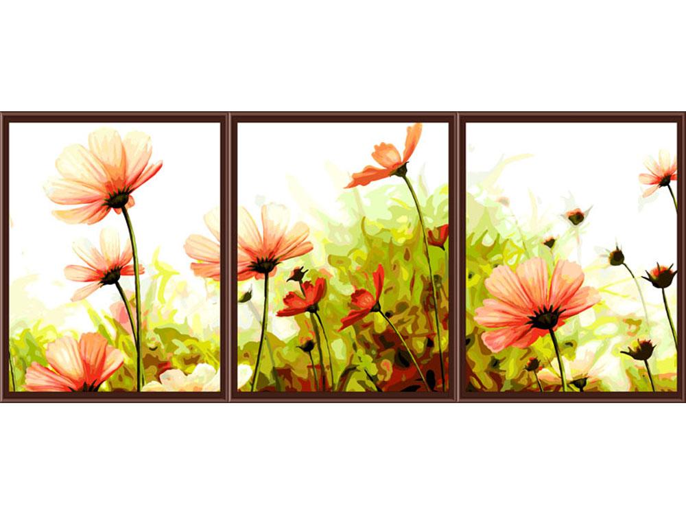 «Романтические цветы»Раскраски по номерам Color Kit<br><br><br>Артикул: p057<br>Основа: Холст<br>Размер: 3 шт. 40х50 см<br>Количество цветов: 39<br>Техника рисования: Без смешивания красок