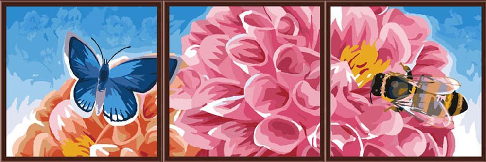 Раскраска картин по номерам на холсте триптих