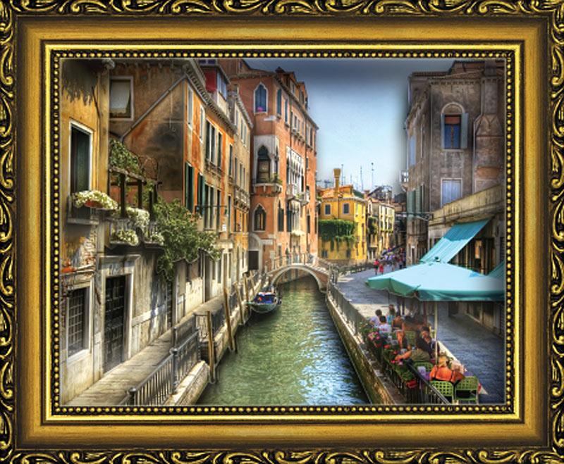"""Объемная картина «Венецианский канал»Объемные картины Vizzle (Виззл)<br>Объемная картина Vizzle - хобби-набор для творческого досуга в любом возрасте. Комплектация набора предусматривает все, что необходимо для получения полностью завершенной картины:<br> <br> <br> - высококачественный картон с уже """"вырубленными"""" деталями (их нужно пр...<br>"""